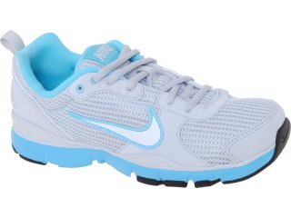 Tênis Feminino Nike 443836-008 Flex Trainer Cinza/azul - Tamanho Médio