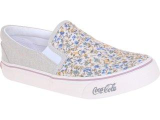 Tênis Feminino Coca-cola Shoes Cc0141 Floral Bege - Tamanho Médio