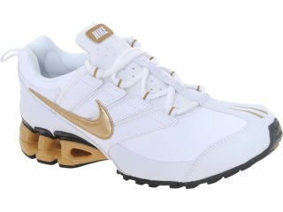 Tênis Masculino Nike 371343-107 Impax Contain Branco/ouro - Tamanho Médio