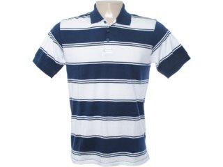 Camiseta Masculina Hering Kt16 2jsi Branco/marinho - Tamanho Médio