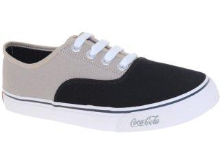 Tênis Masculino Coca-cola Shoes Cc0162 Preto/bege - Tamanho Médio