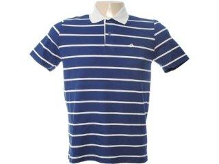 Camiseta Masculina Mineral 98574 Listrado Azul - Tamanho Médio