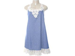 Vestido Feminino Moikana 4003 Marinho - Tamanho Médio