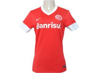 T-shirt Feminino Inter 527763-611 Vermelho/branco - Tamanho Médio