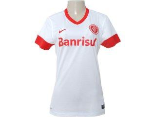 T-shirt Feminino Inter 527764-100 Branco/vermelho - Tamanho Médio