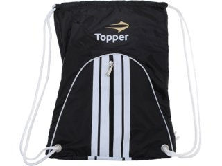 Bolsa Masculina Topper 4124584 Preto/branco - Tamanho Médio