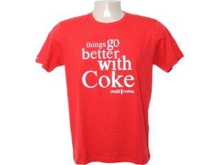 Camiseta Masculina Coca-cola Clothing 353202885 Vermelho - Tamanho Médio
