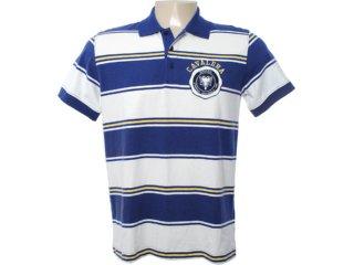 Camisa Masculina Cavalera Clothing 03.01.0788 Marinho/off White - Tamanho Médio