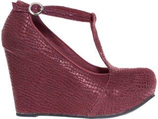 Sapato Feminino Tanara 3102 Bordo - Tamanho Médio