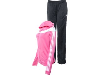 Abrigo Feminino Adidas X24755 Rosa/preto - Tamanho Médio
