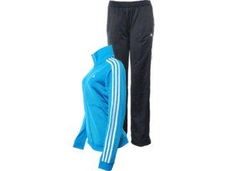Abrigo Feminino Adidas X24263 Azul/preto - Tamanho Médio