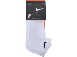 Meia Masculina Nike Sx3569-185 Kit c/ 3 Branco - Tamanho Médio