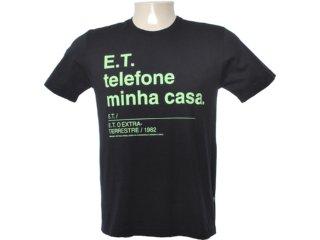 Camiseta Masculina Cavalera Clothing 01.01.6538 Preto - Tamanho Médio