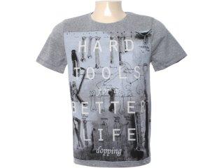 Camiseta Masculina Dopping 015562002 Grafite - Tamanho Médio