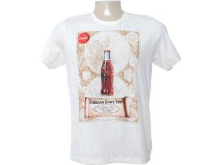 Camiseta Masculina Coca-cola Clothing 353202818 Off White - Tamanho Médio