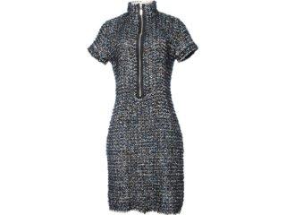 Vestido Feminino Lafort E121482 Azul/preto - Tamanho Médio