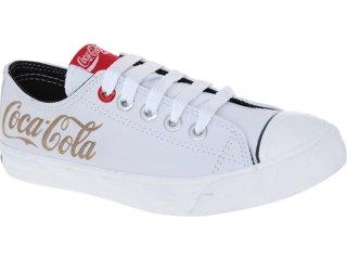 Tênis Feminino Coca-cola Shoes Cc0002 Branco - Tamanho Médio