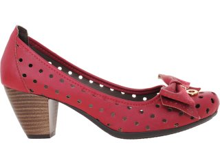 Sapato Feminino Brenners 2041 Vermelho - Tamanho Médio