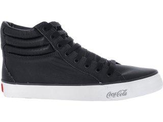 Tênis Masculino Coca-cola Shoes Cc0163 Preto - Tamanho Médio