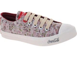 Tênis Feminino Coca-cola Shoes Cc0101 Floral Vermelho - Tamanho Médio