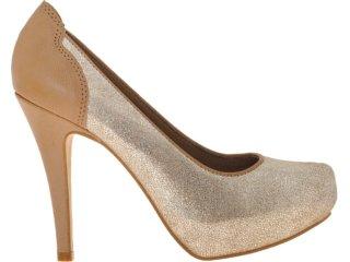 Sapato Feminino Tanara 3231 Champanhe - Tamanho Médio