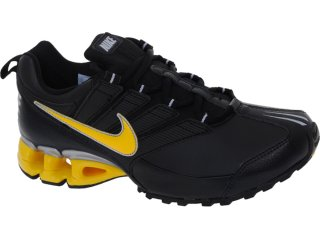 Tênis Masculino Nike 371343-011 Impax Preto/amarelo - Tamanho Médio