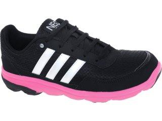 Tênis Feminino Adidas G52559 Lite Runner Pto/bco/pink - Tamanho Médio