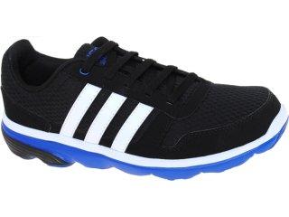 Tênis Masculino Adidas G52555 Lite Runner Pto/bco/azul - Tamanho Médio