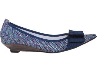 Sapato Feminino Brenners 1950 Azul Cobra - Tamanho Médio