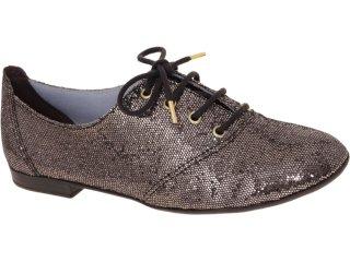 Sapato Feminino Brenners 3001 Gliter Chumbo - Tamanho Médio