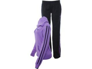 Abrigo Feminino Nike 450656-500 Lilas/preto - Tamanho Médio