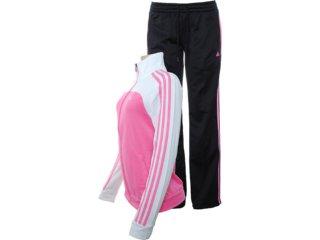 Abrigo Feminino Adidas X28650 Rosa/bco/preto - Tamanho Médio