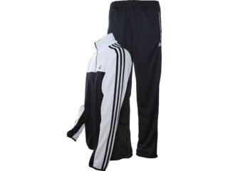 Abrigo Masculino Adidas X35028 Preto/branco - Tamanho Médio