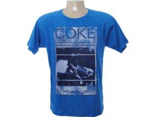 Camiseta Masculina Coca-cola Clothing 353202811 Azul - Tamanho Médio