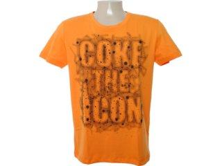 Camiseta Masculina Coca-cola Clothing 353202941 Laranja - Tamanho Médio