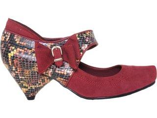 Sapato Feminino Tanara 3182 Bordo/color - Tamanho Médio