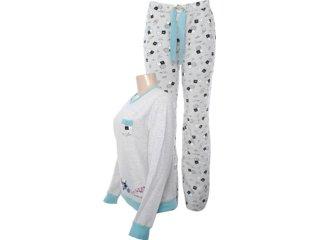Pijama ml Feminino Hering 7a74 Md210 Bege - Tamanho Médio
