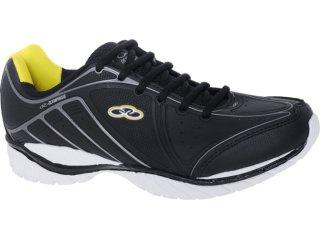 Tênis Masculino Olympikus Clinck 760 Preto/amarelo - Tamanho Médio