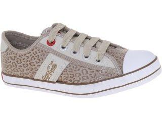 Tênis Feminino Coca-cola Shoes Cc0144 Onca Caqui - Tamanho Médio
