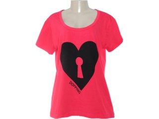 Camiseta Feminina Dopping 015252015 Vermelho - Tamanho Médio