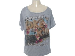 Camiseta Feminina Coca-cola Clothing 343200561 Cinza - Tamanho Médio