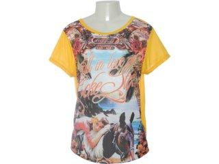 Camiseta Feminina Coca-cola Clothing 343200566 Amarelo - Tamanho Médio