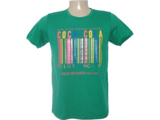 Camiseta Masculina Coca-cola Clothing 353202998 Verde - Tamanho Médio