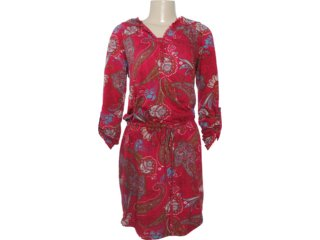 Vestido Feminino Hering 09hh 1b00s Vermelho - Tamanho Médio