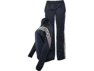 Abrigo Feminino Adidas W63207 Preto/dourado - Tamanho Médio