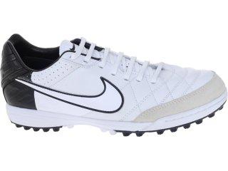 Tênis Masculino Nike Tiempo 454314-105 Branco/preto - Tamanho Médio