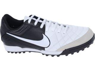 Tênis Masculino Nike Tiempo 509089-105 Branco/preto - Tamanho Médio