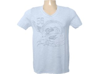 Camiseta Masculina Dzarm 6bvb At810 Azul Claro - Tamanho Médio
