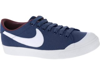 8dea3644252 Tênis Masculino Nike 433081-402 All Court Marinho branco