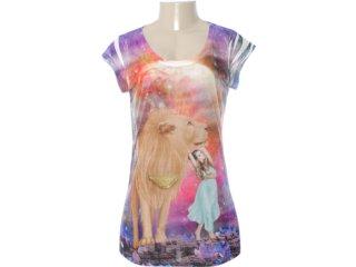 Camiseta Feminina Coca-cola Clothing 343200532 Off White - Tamanho Médio